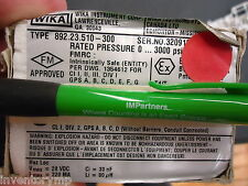 WIKA 892.23.510-300 PRESSURE TRANSMITTER VACUUM 20MA 28VDC 0-400 PSI. Brand New!