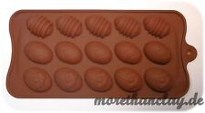 Silikonform - 3 verschiedene Ostereier Weihnachten - Pralinen Schokolade