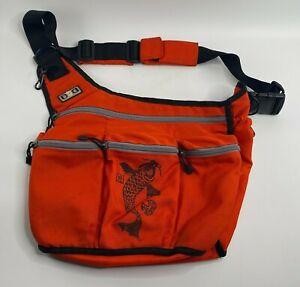 Diaper Dude Messenger Bag Diaper Bag - Koi Fish Japan Orange for Rockabilly Dad