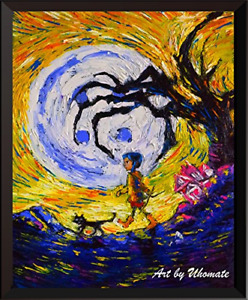 Uhomate Coraline Vincent Van Gogh Starry Night Posters Home Canvas Wall Art Baby