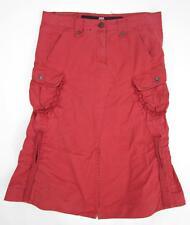 Le Jean De Marithe François Girbaud Ruched Cotton Skirt Size 31 Red