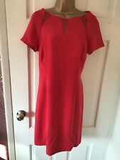 ❤️❤️STUNNING COAST BRIGHT RED OCCASION DRESS SIZE 16❤️❤️FREE POSTAGE!