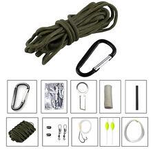 Portable Emergency Survival Sports Camping Fishing Paracord Multi Tools Kit JS