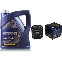 Ölwechsel Set 5 Liter MANNOL Defender 10W-40 + SCT Ölfilter Service 10164122