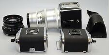 HASSELBLAD 500C/M CAMERA WITH 2 LENSES CARL ZEISS F=150MM AND F=80MM SEE PICTURE