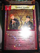 HARRY POTTER TCG CARD CHAMBER OF SECRETS SPIDER'S EXODUS 51/140 RARE FOIL MINT