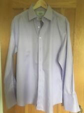 Mens Lilac Charles Tyrwhitt Shirt Double Cuff Size 17in