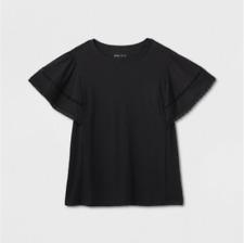 Women's Plus Size Short Sleeve Blouse - Ava & Viv - Black - X - C449