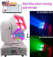 40w LED 4* 4in1 RGBW Zoom Wash Beam led Mini Moving Head inno Pocket Stage Light