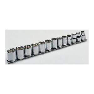 1 x RS Pro Chrome Vanadium Steel 10 Piece Socket Set 198-7346, 3/8 Square Drive