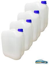 4x10L Kunststoffkanister Kanister Behälter Wasserbehälter Plaste Kanne mit Decke