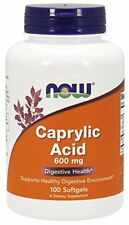NOW FOODS, CAPRYLIC ACID, 600mg, 100 Kaps. Caprylsäure ORIGINAL !!EXTRAPREIS !!!