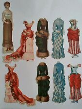 Antique Double Sided Paper Doll Embossed German Lithograph Vintage Rare Royalty