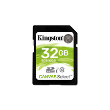 Kingston Memory Card SDHC 32GB C10 UHS-I