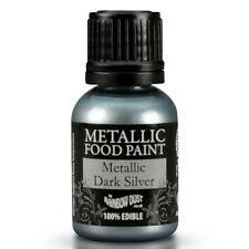 Rainbow Dust essbare metallisch Lebensmittel Farbe Event Dark Silver