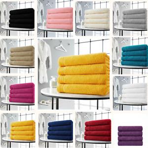 4 Pieces Egyptian Cotton Towels Large Bath Sheet Super Soft Towel Bale Set