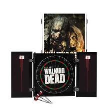 NEW The Walking Dead Zombie Dart Board & Cabinet & Darts Set Christmas Gift