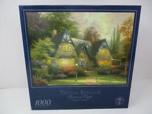 """Thomas Kinkade 1000 Piece Jigsaw Puzzle- Painter of Light, """"Winsor Manor""""  NEW"""