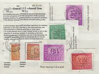 GB Fiscals 1980s TV Licence Stamps x 6  J6717