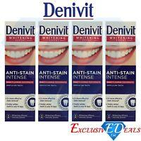 Denivit Anti-Stain Intense Daily Fluoride Toothpaste Whitening Expert 4 x 50ml