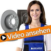 ZIMMERMANN BREMSEN KIT FÜR HINTEN + 2 BREMSSCHEIBEN Ø 282 mm + 4 BREMSBELÄGE