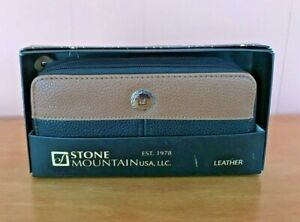 Stone Mountain Leather SLG Wallet Clutch Double Zip  NWT in Box