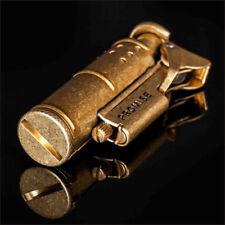Vintage Retro Design Smoke Old Gasoline Lighter Metal Genuine Gadgets for Men