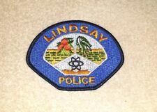 Lindsay California Police Shoulder Patch