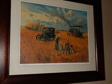 Steam Tractor Farming Print. Mort Kunsler (40 years old), Superb cond & Signed