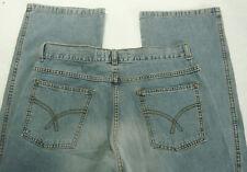 FISHBONE Herren Men Jeans Hose Straight-Leg 32/34 32/34 Denim used Blau Top A678