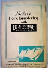 BLACKSTONE LAUNDRY MACHINE COMPANY BROCHURE MODERN HOME LAUNDERING 1936 VINTAGE