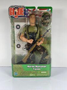 Vtg 2003 GI Joe Marine Marksman Trainee Hasbro Action Figure New Sealed