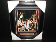 JIM VALVANO FRAMED 8X10 PHOTO DONT EVER GIVE UP ARTHUR ASHE CORAGE AWARD