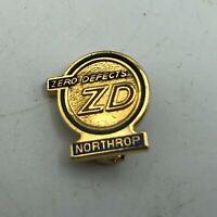 Vtg Northrop Grumman Aerospace Defense ZD Zero Defects Award Pin Advertising H8
