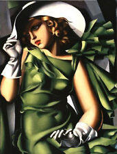 Art oil painting lempicka-young-girl-in-green-reproduction free shipping canvas