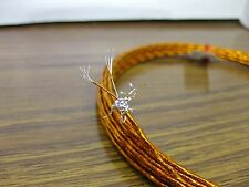 10 feet 28 AWG Shielded Silver Plated Kapton Wire 2 Twisted Flat Braid