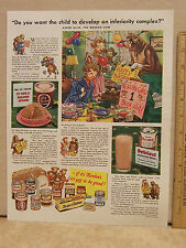 Vintage Magazine Ad for The Borden Company Ellsie Cow Chocolate Drink Food