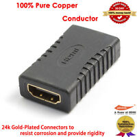 Gold-Plated High Speed HDMI Female Coupler 3D & 4K Resolution-Ready