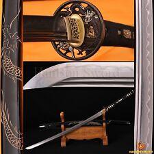TOP QUALITY JAPANESE SAMURAI DRAGON SWORD KATANA 2 BO-HI HAND-CARVED SAYA