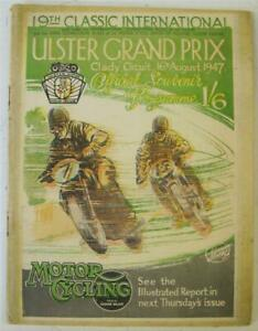 ULSTER GRAND PRIX 16 Aug 1947 Official Programme