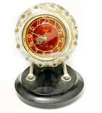 Vintage USSR crystal case clock MAYAK working condition