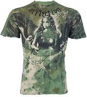 AFFLICTION Men T-Shirt BLISS Angel Tattoo Motorcycle Biker Gym MMA UFC Jeans $66