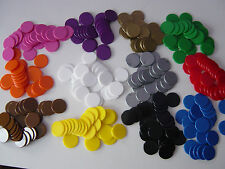 Counters, 25 mm diameter, Tiddlywinks / Board Games, teaching aid, 12 colours