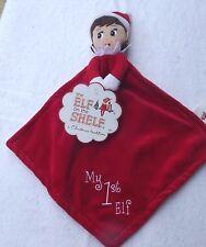 "NEW Elf on the Shelf  My 1st Elf  Rattle Girl Pink  Blanket Lovey  8"""