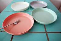 Greenandlife 9.3inch/8pcs Dishwasher & Microwave Safe Wheat Straw Plates