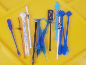 Swizzle Stir Sticks Vintage Lot Assortment NO RESERVE!