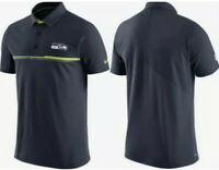 NWT Nike Seattle Seahawks Mens Sideline Elite Coaches Polo Shirt Large Navy