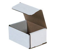 "100 Pack 4x3x2 White Corrugated Shipping Mailer Packing Box Boxes 4"" x 3"" x 2"""