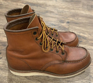 """Red Wing Shoes Men's US 9.5E 6"""" Moc Toe 875 Boot Oro Legacy 10875 heritage 1907"""