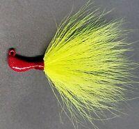 5 Striper Blackfish Fluke Bass Walleye Banana Bucktail JigHead Standup Lure-Char